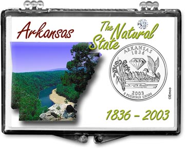 Edgar Marcus Snaplock Display - Arkansas, The Natural State