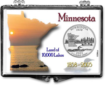 Edgar Marcus Snaplock Display - Minnesota, Land Of 10,000 Lakes