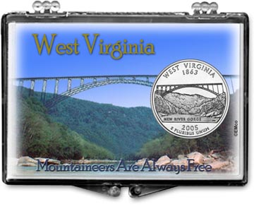 Edgar Marcus Snaplock Display - West Virginia, Mountaineers Are Always Free