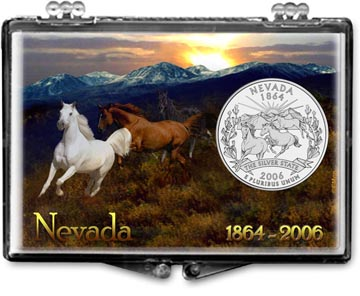Edgar Marcus Snaplock Display - Nevada, Horses