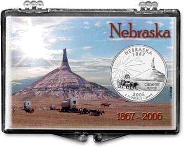 Edgar Marcus Snaplock Display - Nebraska, Chimney Rock