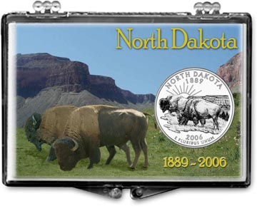 Edgar Marcus Snaplock Display - North Dakota, Bison