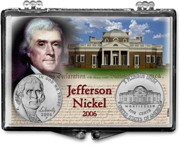 Edgar Marcus Snaplock Display - Jefferson Nickel 2 piece set - 2006