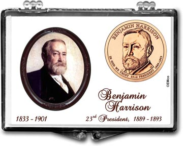 Edgar Marcus Snaplock Display - Benjamin Harrison