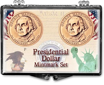 Edgar Marcus Snaplock Display - Presidential Dollar Mintmark Set