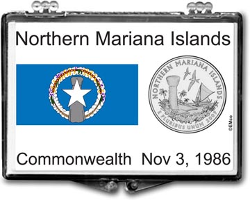 Edgar Marcus Snaplock Display - Northern Mariana Islands Flag