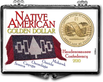 Edgar Marcus Snaplock Display - Native American Golden Dollar 2010