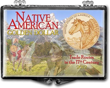 Edgar Marcus Snaplock Display - Native American Golden Dollar 2012