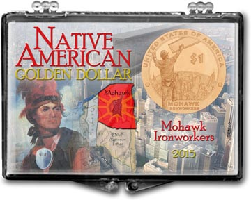 Edgar Marcus Snaplock Display - Native American Golden Dollar 2015