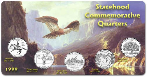 Edgar Marcus & Co Specialty Set Display - State Quarters, 1999