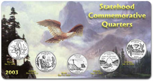 Edgar Marcus & Co Specialty Set Display - State Quarters, 2003