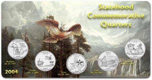 Edgar Marcus & Co Specialty Set Display - State Quarters, 2004