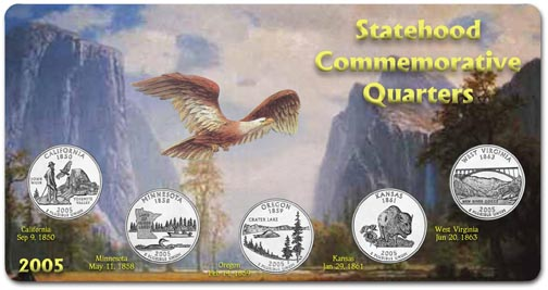 Edgar Marcus & Co Specialty Set Display - State Quarters, 2005