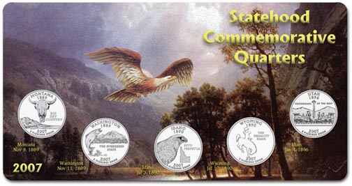 Edgar Marcus & Co Specialty Set Display - State Quarters, 2007