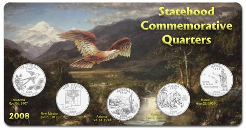 Edgar Marcus & Co Specialty Set Display - State Quarters, 2008