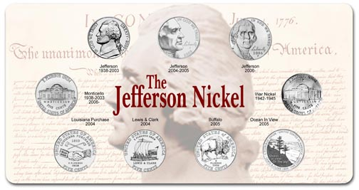 Edgar Marcus & Co Specialty Set Display - The Jefferson Nickel