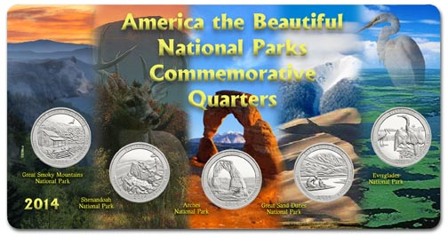 Edgar Marcus & Co Specialty Set Display - National Parks 2014