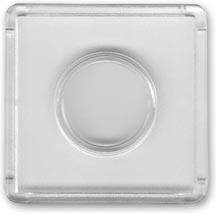 Edgar Marcus Snap-Tite 2'' x 2'' Plastic Holder - Nickel, box of 25