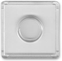 Edgar Marcus Snap-Tite 2'' x 2'' Plastic Holder - Dime, box of 25
