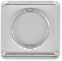 Edgar Marcus Snap-Tite 2'' x 2'' Plastic Holder - Half Dollar, box of 25