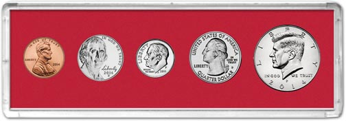 Edgar Marcus & Co Snap-Tite Deluxe Coin Set Holder - Red