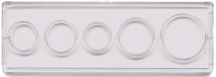 Edgar Marcus & Co Snap-Tite Coin Set Holder - Cent through Half Dollar, 5-hole