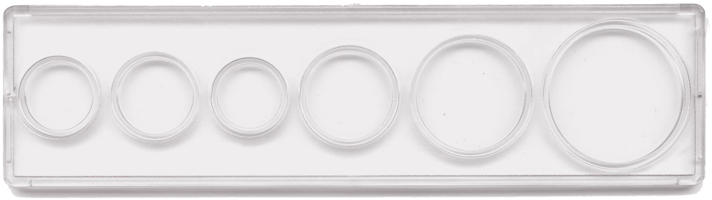 Edgar Marcus & Co Snap-Tite Coin Set Holder - Cent through Large Dollar, 6-hole