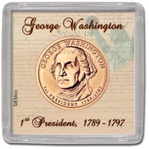 Edgar Marcus & Co Snap-Tite Coin Display - George Washington