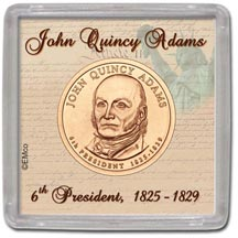 Edgar Marcus & Co Snap-Tite Coin Display - John Quincy Adams