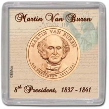 Edgar Marcus & Co Snap-Tite Coin Display - Martin Van Buren