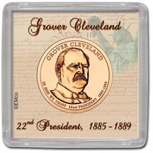 Edgar Marcus & Co Snap-Tite Coin Display - Grover Cleveland, First Term