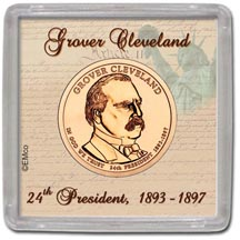 Edgar Marcus & Co Snap-Tite Coin Display - Grover Cleveland, Second Term