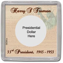 Edgar Marcus & Co Snap-Tite Coin Display - Harry Truman