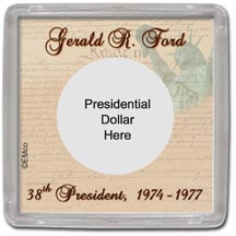 Edgar Marcus & Co Snap-Tite Coin Display - Gerald Ford