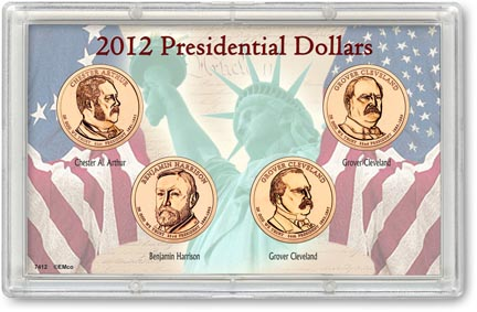 Edgar Marcus & Co Snap-Tite Commemorative Coin Display - Presidential Dollars 2012 MAIN