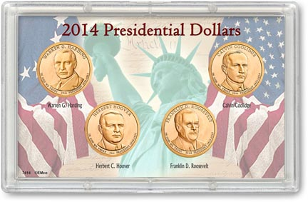 Edgar Marcus & Co Snap-Tite Commemorative Coin Display - Presidential Dollars 2014 MAIN