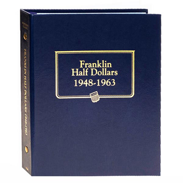 Whitman Classic Album - Franklin Half Dollars 1948-1963