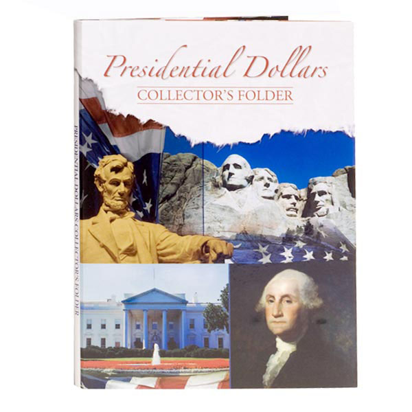 H.E. Harris Coin Folder - Presidential Dollars Date Set 1-H 7x9