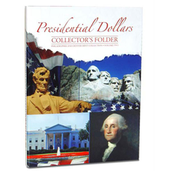 H.E. Harris Coin Folder - Presidential Dollars vol 2 P&D, 7x9