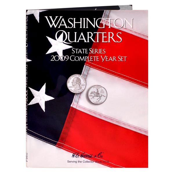 H.E. Harris Coin Folder - State Quarters, 2009