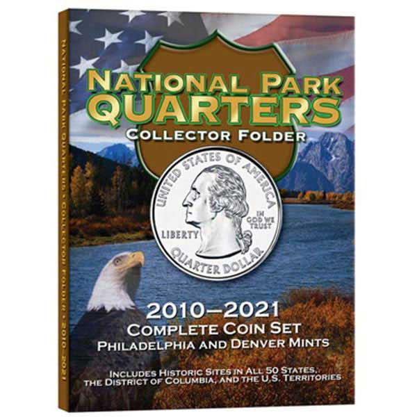 H.E. Harris Coin Folder - National Parks Quarters P&D, 120 openings