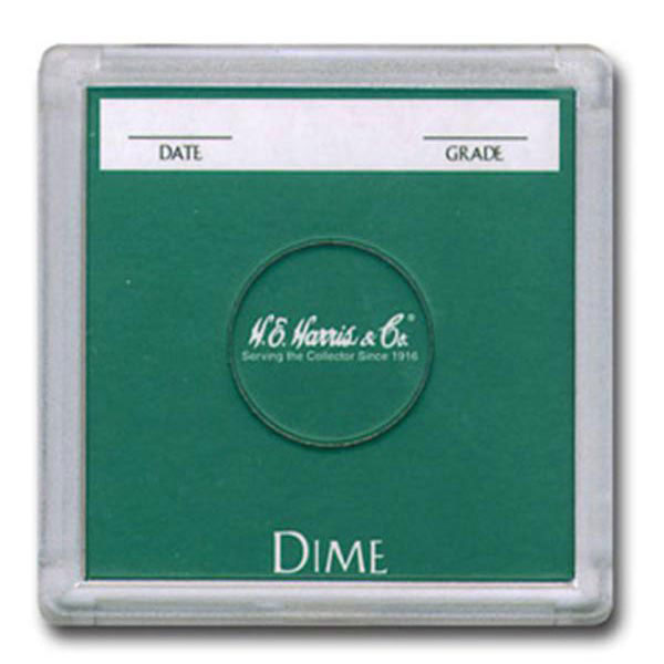 H. E. Harris 2X2 Color Coded Holder Dime - 25 Ct Box