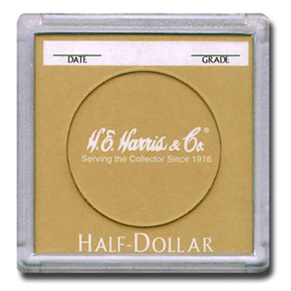 H. E. Harris 2X2 Color Coded Holder Half Dollar - 25 Ct Box