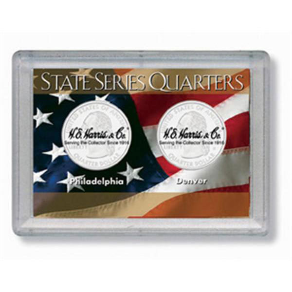 H.E. Harris Frosty Case - 2x3, State Quarters 2-Hole