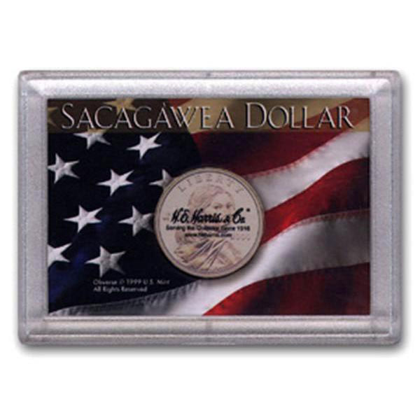 H.E. Harris Frosty Case - 2x3, Sacagawea Flag 1-hole