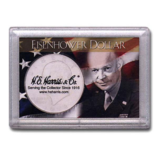 H.E. Harris Frosty Case - 2x3, Ike Dollar