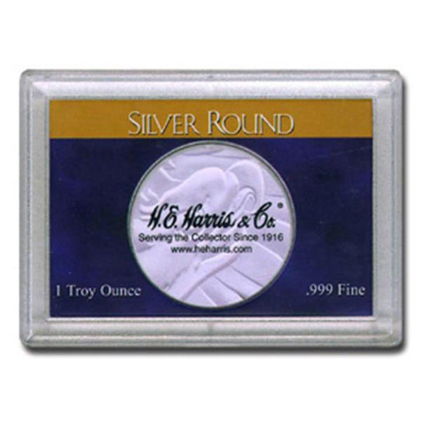 H.E. Harris Frosty Case - 2x3, Silver Round