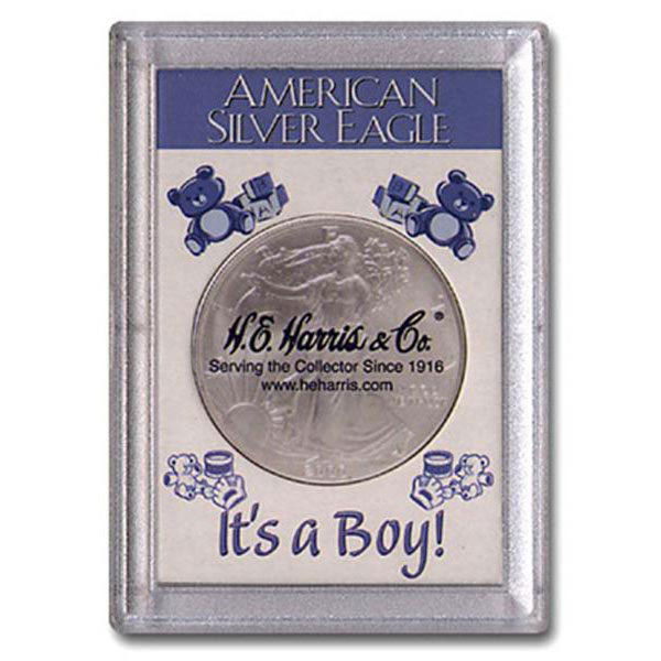 H.E. Harris Frosty Case - 2x3, Silver Eagle Boy