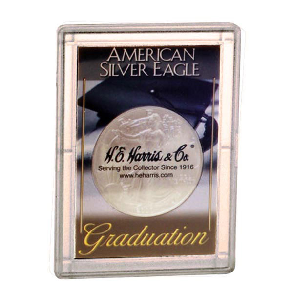 H.E. Harris Frosty Case - 2x3, Silver Eagle Graduation