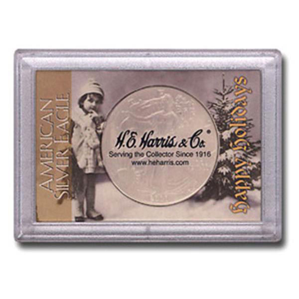 H.E. Harris Frosty Case - 2x3, Silver Eagle Happy Holiday